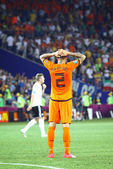 UEFA EURO 2012 game Netherlands vs Germany — Stock fotografie