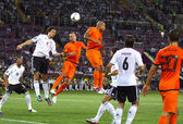 UEFA EURO 2012 game Netherlands vs Germany — Stock Photo
