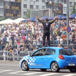 Red Bull Champions Parade on the streets of Kyiv — Stock Photo #49742367