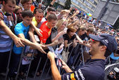 Formula 1 driver Daniel Ricciardo of Red Bull Racing Team — Stock Photo
