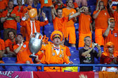 Dutch soccer fans — Stock Photo