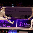 Womens Sabre match of World Fencing Championships — Stock Photo #49850565
