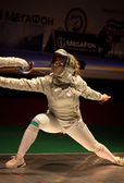 Sabre fencer Olga Kharlan of Ukraine — Stock Photo