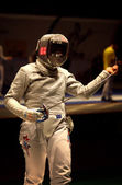 Sabre fencer Mariel Zagunis of USA — Stock Photo