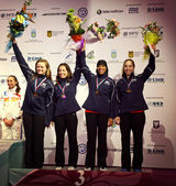 USA National Sabre Team — Stock Photo