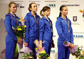 Ukraina nationella sabre team — Stockfoto