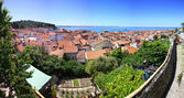 Panoramic view of Piran old town, Slovenia — Stock Photo