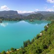 Panoramic view of Bled Lake, Slovenia — Stock Photo #50867193