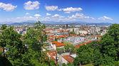 Panoramic view of Ljubljana, Slovenia — Stock Photo
