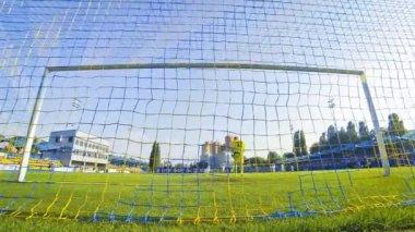 Ukraine Premier League Game between Olimpic Donetsk and Zorya Luhansk — Stock Video