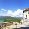 Panoramic view of Bled Castle above the lake Bled, Slovenia — Stock Photo #51392379