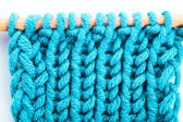 Turquoise knitted background — Stock Photo