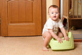 Baby on the pot — Stock Photo