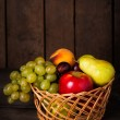 Basket of fruits - Stock Photo