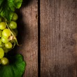 Grapes with leaves - Stock Photo