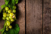 Grapes with leaves — Stockfoto