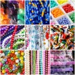 Variety of beads for necklaces — Stock Photo #15367511