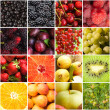 Stock Photo: Various fruits berries