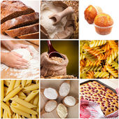 Cooking with wheat flour — Stock Photo