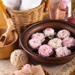 Spa with roses - Stock Photo