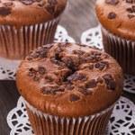 Chocolate muffins — Stock Photo #15376411