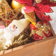 Royalty-Free Stock Photo: Box with christmas decoration