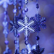 Blue snowflakes — Stock Photo