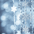 Blue snowflakes — Stockfoto