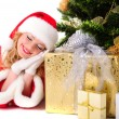 Christmas santa girl — Stock Photo #15653199