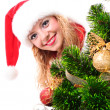Christmas santa girl — Stock Photo #15653241