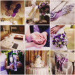 Collage from nine wedding  photos — Stockfoto