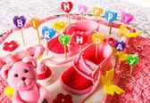 """""""Happy birthday"""" candles — Stock Photo"""