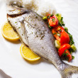 Baked dorado fish — Stockfoto