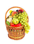 Basket of vegetables and fruits — Stock Photo