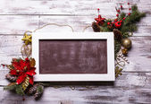 Christmas board — Stock Photo
