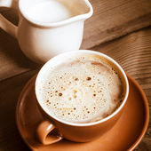 Coffee with milk — Stock Photo