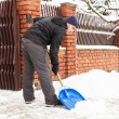 Stock Photo: Snow removal