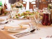 Terrassencafe-tabelle — Stockfoto