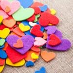 多彩的心 — 图库照片