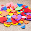 Colorful hearts — 图库照片