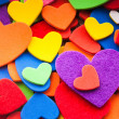 Colorful hearts — 图库照片 #19587807
