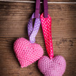 Crochet lovely hearts — Stock Photo #19588015