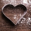 Heart cookie cutter — Foto Stock