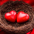 Stock Photo: Nest with hearts