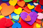 Corações coloridas — Foto Stock
