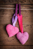 Crochet lovely hearts — Foto de Stock