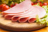 Ham slices — Stock Photo