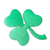 Embroidered shamrock — Stock Photo