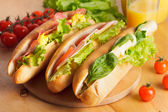 Various types of sandwiches — Stock Photo