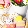 Royalty-Free Stock Photo: Easter cookies and decorative eggs